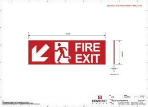 Fire Exit Signage Drawing